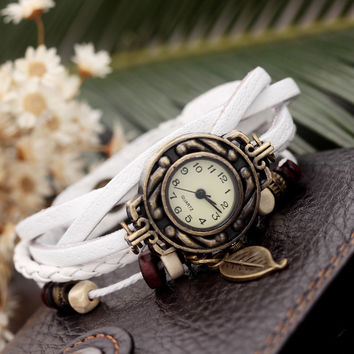 Gift New Arrival Great Deal Shiny Hot Sale Awesome Vintage Leaf Bracelet Watch Watch Men Stylish Bracelet [6526775875]