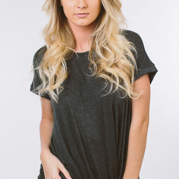 Easy To Love Top - Charcoal