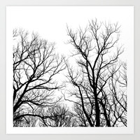 Trees & Sky Art Print by PoseManikin