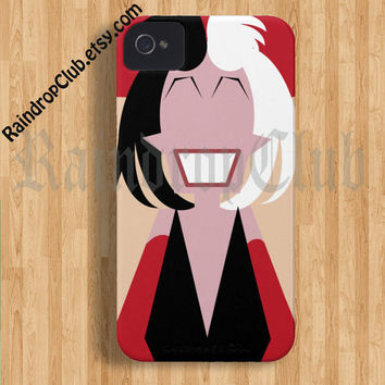 RaindropClub IPhoneCase Cruella Devil Case Make to order