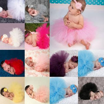 Newborn Photography Props Infant Costume Outfit Princess Baby Tutu Skirt Headband Baby Photography Props Baby Skirt MU986711
