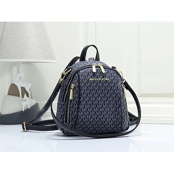 Michael Kors MK Women Fashion Leather Backpack Daypack Bookbag