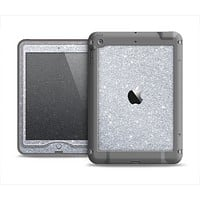 The Silver Sparkly Glitter Ultra Metallic Apple iPad Air LifeProof Nuud Case Skin Set