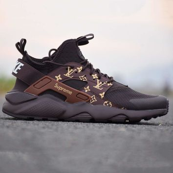 Nike LV X Air Huarache X Supreme Women Men Sneakers Sport Running Shoes