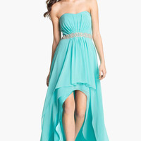 Xscape Embellished Waist Chiffon Gown (Online Exclusive) | Nordstrom