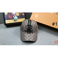 GUCCI street fashion men and women models wild fashion embroidery logo baseball cap #1
