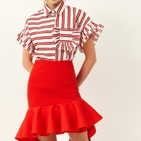 Stella Ruffle Unbalance Skirt Discover the latest fashion trends online at storets.com