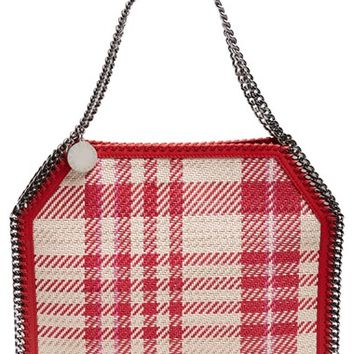 Stella McCartney 'Small Falabella - Plaid' Woven Faux Leather Tote | Nordstrom