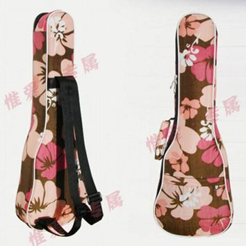 Beautiful guitar bag ukulele backpack case 21 23 24 26 inches cover acoustic concert soprano Lanikai Luna Mahalo Kala Ukues pink