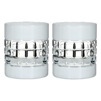 Waterford London Set of 2 White Lead Crystal Double Old Fashioned Glasses | Nordstrom