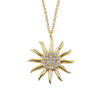 Sun 14k Solid Gold Necklace Best Price