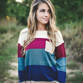 Colorblock Pocket Sweater