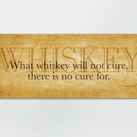 8 x 20 Whiskey Man Cave Wood Sign