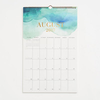 2017-2018 Watercolor with Foil Calendar