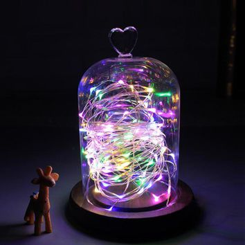 LED Holiday light 2m 5m christmas decoration light String light LED Copper Wire Fairy Light for Wedding Festival Party Home lamp