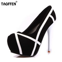 Women High Heels Platform Mix Color Shoes Thin Heel Heeled Footwear