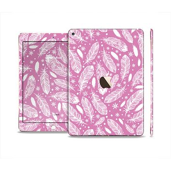 The Purple Feather Vector Collage Skin Set for the Apple iPad Air 2