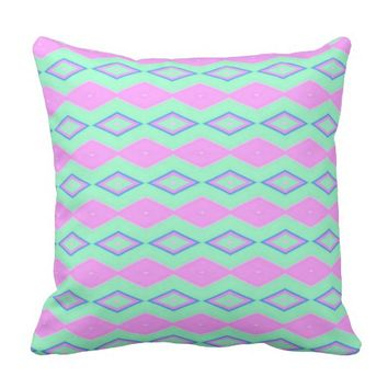 Pastel Diamonds Throw Pillow