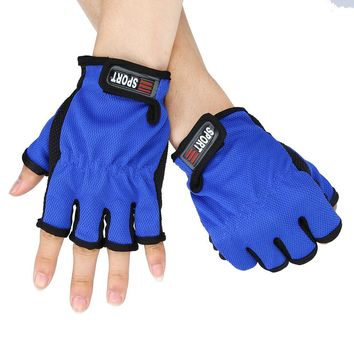 1 Pair Glove Fingerless Exposed Men&Women Breathable Fishing Glove Anti Slip 5 Cut Glove Durable and portable camping sport  15