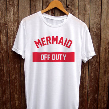 Mermaid tshirt Christmas - funny shirts, mermaid t shirt, gifts for her, mermaid shirt, mermaid off duty, womens tshirt, mermaid print