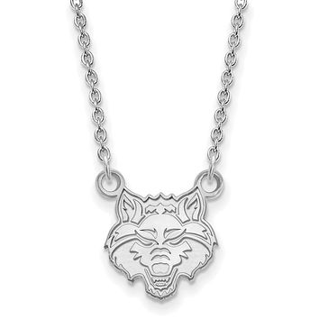 NCAA Sterling Silver Arkansas State Small Pendant Necklace
