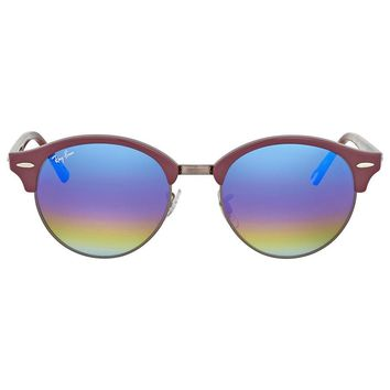 Ray Ban Clubround Blue Rainbow Flash Sunglasses
