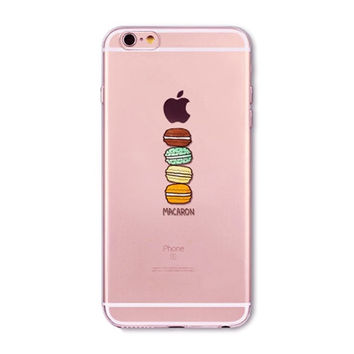 Macaron Clear Phone Case For 6 6s Plus 5 5s SE