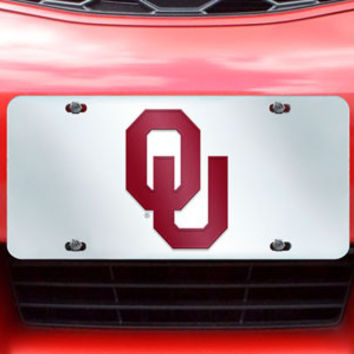 University of Oklahoma License Plate-Inlaid