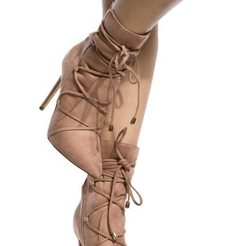 Blush Faux Suede Lace Up Pointed Toe Booties @ Cicihot. Booties spell style, so if you want to show what you're made of, pick up a pair. Have fun experimenting with all we have to offer!