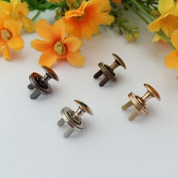 5set / Pack 14mm Single rivets Strong Magnetic Snap Fasteners Clasps Buttons Handbag Purse Wallet Craft Bags Parts Accessories