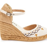 Satuna Barcino Canvas Wedges - Ivory