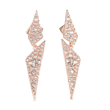 Crystal Encrusted Dangling Origami Post Earring | Alexis Bittar