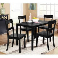 Beverly 5-Piece Dining Set, Multiple Finishes - Walmart.com