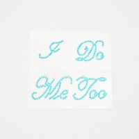 I Do and Me Too Blue Shoe Stickers Wedding Bride and Groom Shoe Sticker