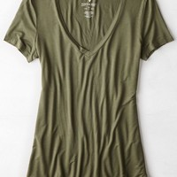AEO Women's Soft & Sexy Jegging V-neck T-shirt