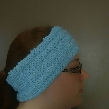 Checkerboard Ear Warmer Headband Womens Winter Headband
