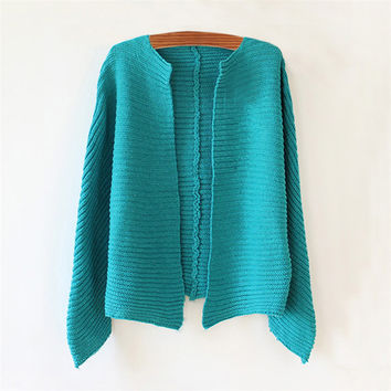 Blue Asymmetrical Cardigan