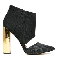 BAD GIRL CUT OUT BOOTIE - BLACK
