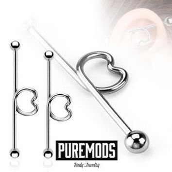 Heart Industrial Barbell (14G)
