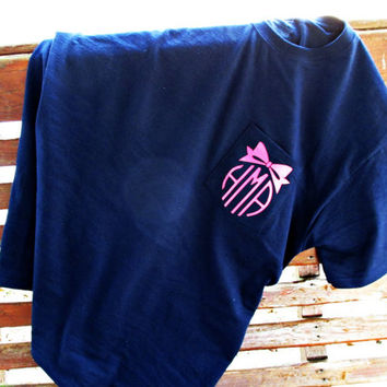 Bow Monogram Pocket Tee - Monogram T-Shirt