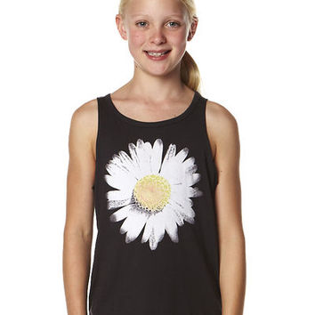 BILLABONG KIDS FLOWER CHILD SINGLET - OFF BLACK