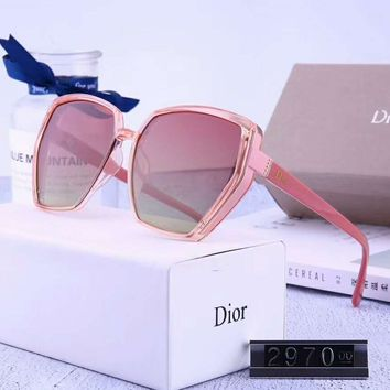 DIOR Women Casual Popular Summer Sun Shades Eyeglasses Glasses Sunglasses 1# Pink