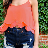 Shine For Me Tank - Coral