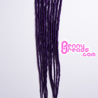 Dark Purple U-Tip Synthetic Dreadlocks (10 pieces)
