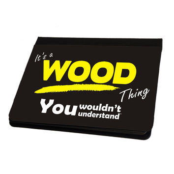123t USA It's A Wood Surname Thing iPad Cover / Case / Stand ( All Models )