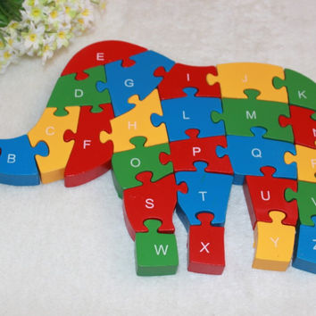 Environmental Toy Wooden Alphabet Baby Toys [4923246788]