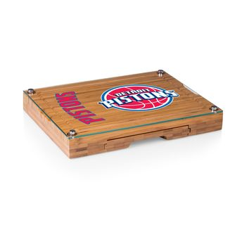 Detroit Pistons - 'Concerto' Glass Top Cheese Board & Tools Set by Picnic Time