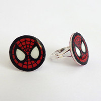 Spiderman Ring! Adjustable Comic book inspired Spiderman ring.