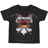 Metallica Boys' Master Faded Childrens T-shirt Black