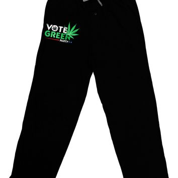 Vote Green Party - Marijuana Adult Lounge Pants